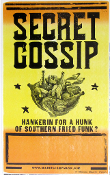 Secret Gossip Tour Blank 2005(?) Hatch Show Print