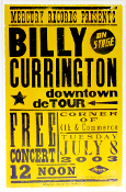 Billy Currington downtown detour 2003 Hatch Show Print