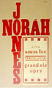 Norah Jones w/ Amos Lee Grand Ole Opry 2004 Hatch Show Print