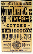 National League Of Cities 80th Congress 2003 Hatch Show Print