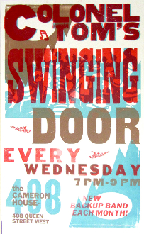 Cameron House - Colonel Tom's Swinging Door Letterpress poster
