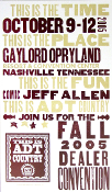 Jeff Allen 2005 ADT Dealer Convention Opryland Hatch Show Print