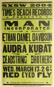 Man Incorporated Times Beach Records SXSW 2004 Hatch Show Print