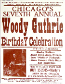 Woody Gutherie Birthday Cele Chicago 2005 Hatch Show Print