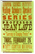 Prof Jean Lave Wyatt Center 2004 Hatch Show Print