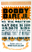 Bobby Bare Jr The Basement NYE 2005 Hatch Show Print
