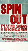 Spin Out Songs By The King 2005 tour blank Hatch Show Print