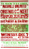 """Nashville Unlimited"" Christmas Concert 2005 Hatch Show Print"
