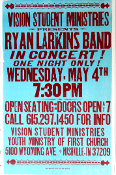 Ryan Larkins Band Nashville 2005 Hatch Show Print