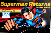 Superman Returns USA weekend magazine poster