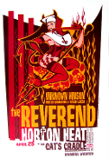 Reverend Horton Heat Cat's Cradle 2003 Bawidamann/Wood AOMR