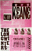 Keane The Long Winters Ryman Aud 2005 Hatch Show Print