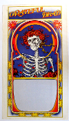 Grateful Dead blank 1971 Skeleton & Roses album poster blank