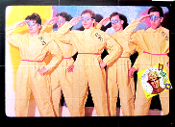 DEVO Q: Are We Not Men? 1978 12 fold pin holes