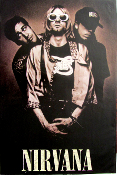 Nirvana band poster - bottom cut-off - condition