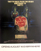 The Return Of The Living Dead opening poster 1984