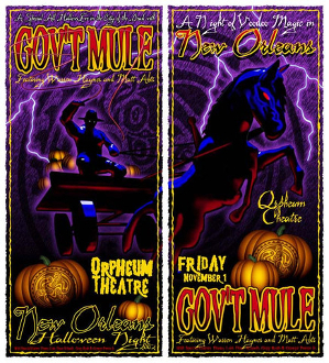 Govt Mule Halloween Night 2002 poster set(numbered) and handbill