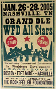 WFD All Stars Nashville 2005 Hatch Show Print
