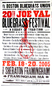 Boston Bluegrass Joe Vale 2005 Hatch Show Print