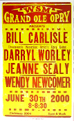 WSM Grand Ole Opry 2000 (re-strike 2005?) Hatch Show Print