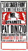 Pat DiNizio (Smithereens) 2005 Solo Acoustic Tour blank -sold