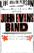 John Evans Band 2005 Tour blank Hatch Show Print