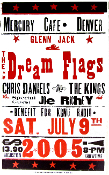 Glenn Jack & Dream Flags Mercury Cafe 2005 Hatch Show Print