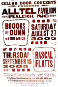 Brooks & Dunn Rascal Flatts 2005 Alltel Pav NC Hatch