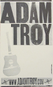 Adam Troy 2005 Tour blank Hatch Show Print