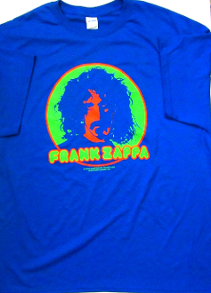 Frank Zappa T-Shirt (Brand New) 50/50 size Medium - blue only
