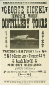 Geo. Dickel Distillery Tours 2005 Hatch Show Print