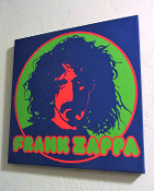 Frank Zappa - canvas Wall Hanging by Dennis Loren - sold