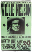 Willie Nelson Lawton OK 2005 Mint Hatch Show Print 100