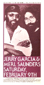 Jerry Garcia Merl Saunders Rheem Theater 1974 Thomas Morris art
