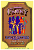 - Fanny Earthquake SUPERB UC Berkeley 1972 poster