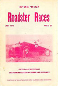 Pacheco Speedway May 1947 souvenir program poster 11x17