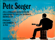 (40) Pete Seeger UC Berkeley 1971 Thomas Morris Art Print