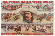 Buffalo Bill Wild West Art Print 22x33 Cowboy