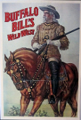 Buffalo Bill Wild West art print. 22x33 inches