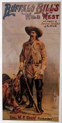 Buffalo Bill Wild West -Col W.F. Cody. 12 1/2x 24 1/2