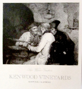 "Kenwood Vineyards ""The Wine Tasters."" 20x22 litho"