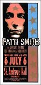 Patti Smith poster St Andrew's Hall Detroit 2000 Arminski