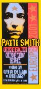 Patti Smith poster - Europe 2001 - Arminski
